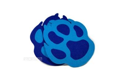 подставка для чашки лапка собаки из фетра , сувенир собака символ года оптом, купить сувениры с символом 2018 года, производство сувениров с символом года, сувениры к году собаки
