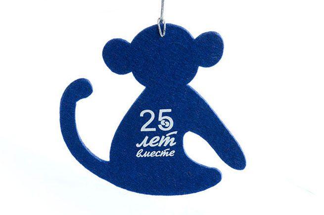 сувениры из войлока, игрушки с логотипом, обезьянка из фетра