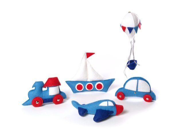 """набор мягких игрушек на тему """"транспорт"""", елочные игрушки из фетра ручной работы"""