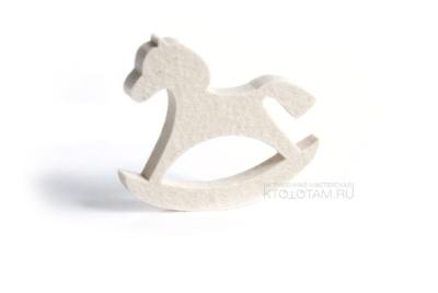 игрушки из натурального войлока, елка, лошадка качалка и сердце, набор
