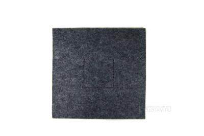 декоративная прошивка деталей из шерстяного фетра