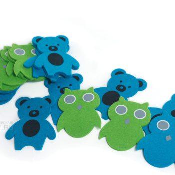 игрушки из фетра с аппликацией, сова и медведь из войлока, персонаж по макету на заказ