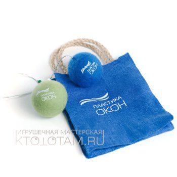 Набор игрушек ручной работы из войлока с логотипом