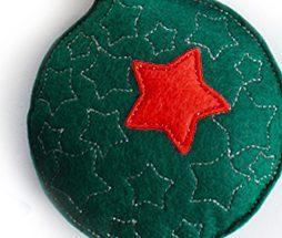 """набор елочных игрушек шаров """"звездочки"""" из фетра ручной работы"""