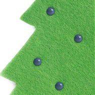 фетровая ёлочка-открытка с декором и логотипом