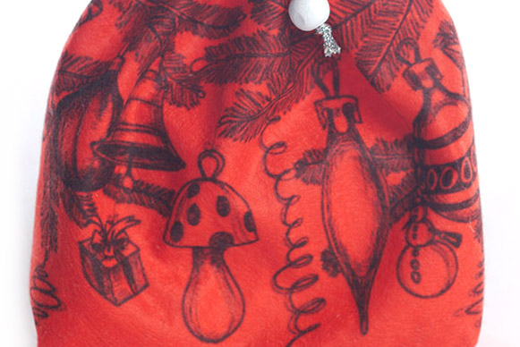 фетровые мешочки с печатью рисунка, подарочные мешочки из фетра, фетровый мешок для подарка на заказ