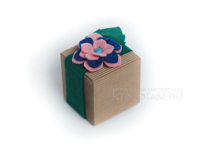 Как упаковать подарок в фетр 37