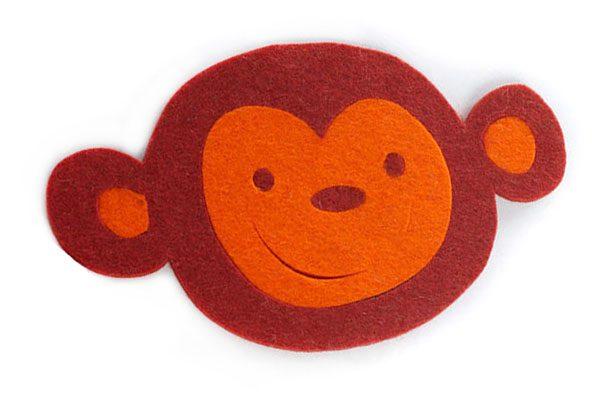 обезьянки , символ 2016 года обезьяны, костеры из фетра, фетровый декор стола, фетровые подарки