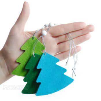 елка, елочка, силуэтная игрушка из фетра, елочная игрушка из листового войлока под нанесение рисунка или логотипа