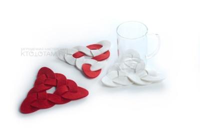 костер плетёнка, подставка для горячего кельтский треугольник, аксессуары для дома интернет магазин, подарки для интерьера, предметы декора, костер, подставка для стакана, бирдэкер