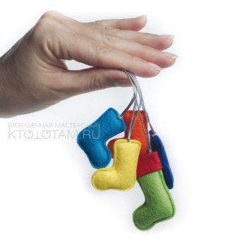 миниатюрные игрушки из фетра, елочка, варежка, сердечко, варежка, валенок, звёздочка, новогодние игрушки из фетра, игрушки ручной работы