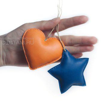 елочные игрушки ручной работы из кожи и фетра, солнышко, елочные игрушки из кожи, сувениры из кожи на заказ