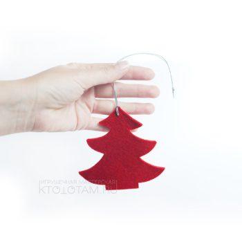 елочка из фетра, набор новогодних игрушек из фетра (натруальная шерсть 3мм) на заказ из войлока