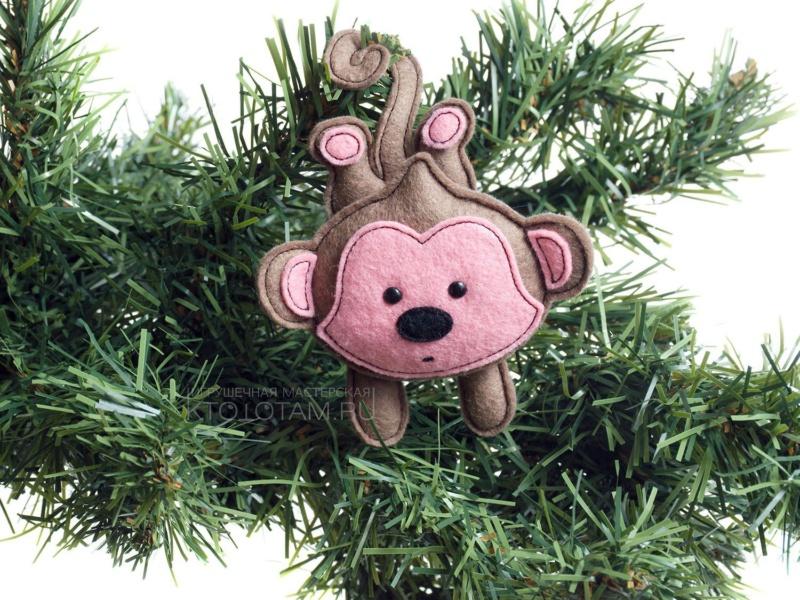 Обезьянка игрушка на елку