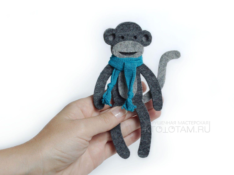 Новогодний сувенир обезьянка своими руками