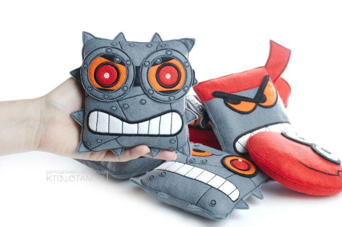 набор игрушек персонажей компьютерной игры Red Ball, мягкие игрушки из фетра по эскизу