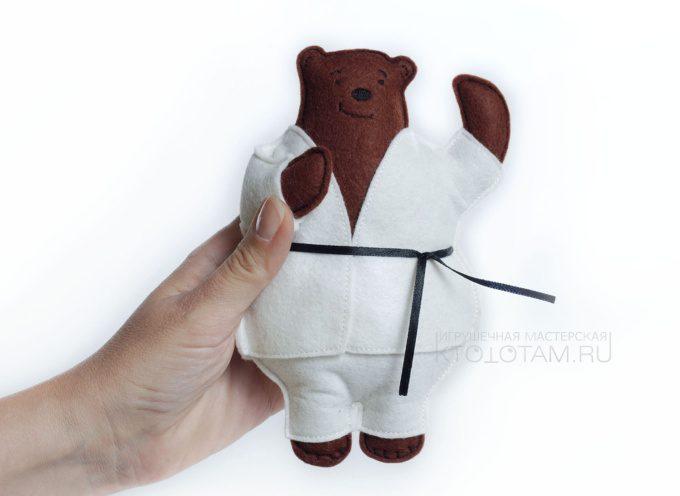 мягкая игрушка из фетра, персонаж по эскизу, мишка фетровая игрушка