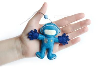 космонавт, космические сувениры, сувенирный набор елочных игрушек на тему космос, сувениры из фетра ручной работы