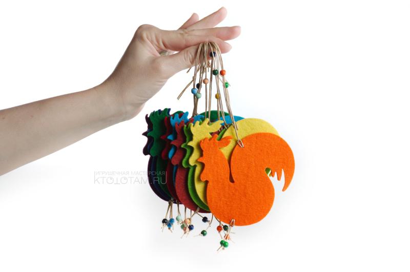 игрушка на елку петушок своими руками