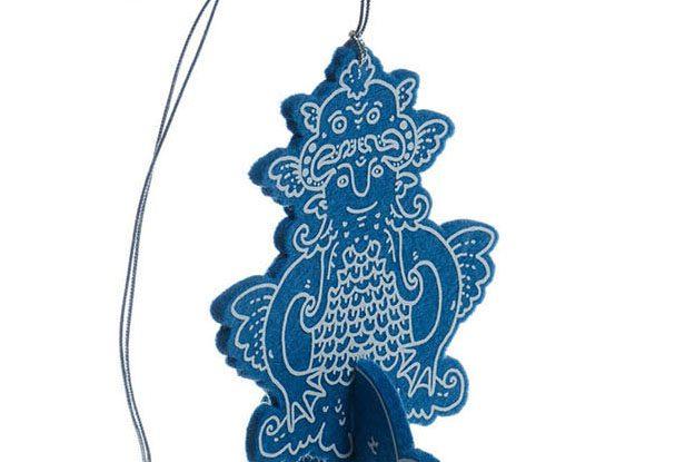 Ктулху, авторские елочные игрушки из войлока, дизайн - Феликс Данкевич, производство - игрушечная мастерская Ктототам