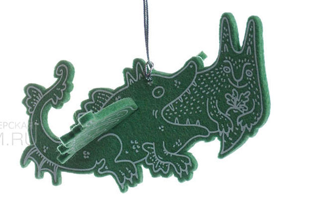 Храбрый Зайчик, авторские елочные игрушки из войлока, дизайн - Феликс Данкевич, производство - игрушечная мастерская Ктототам