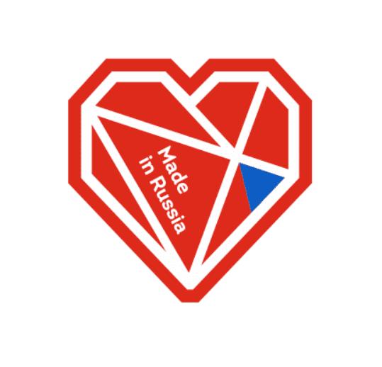 эскиз корпоративного сувенира значок из фетра в виде сердца