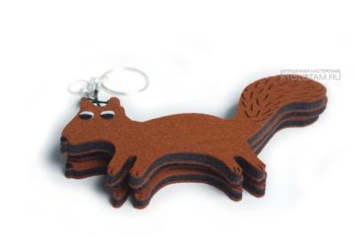 сувенир белка корпоративный персонаж из фетра, креативные подарки из войлока оптом, креативные бизнес подарки из фетра
