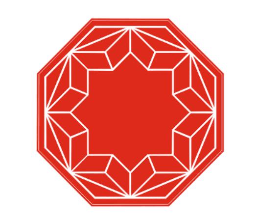 елочная игрушка ручной работы с полигональным узором и местом для нанесения логотипа из фетра на