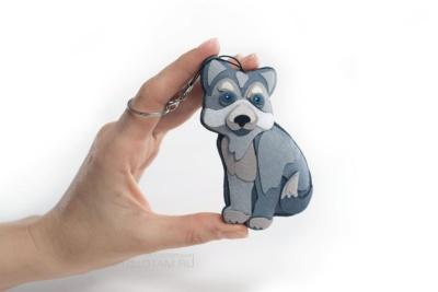 фетровая елочная игрушка собака хаска, сувениры символ года, год собаки символы сувениры, сувенир символ 2018 года, сувенир собака оптом, собака подарок из фетра с аппликацией