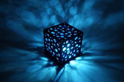 необычный сувенир ночник Куб из фетра с логотипом