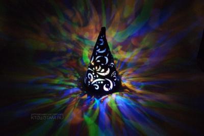сувенир ночник новогодняя настольная ёлка из фетра