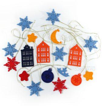 сувениры из фетра ёлочные игрушки, домики, снежинки, шарики