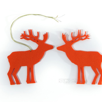 сувенир Олень из фетра ёлочная игрушка, новогодний сувенир из фетра опт