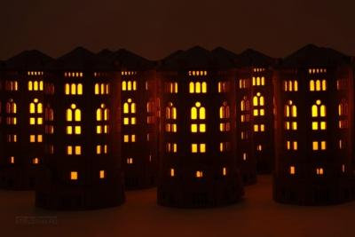 эксклюзивный корпоративный подарок из фетра в виде водонапорной башни, фетровый сувенир ночник, сувенир с дополненной реальностью, gift with augmented reality
