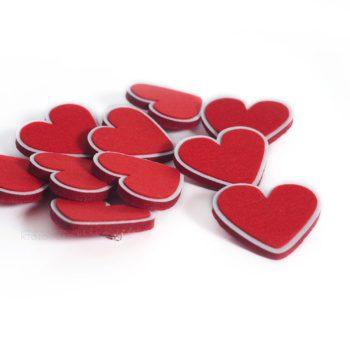 """значок брошка """"сердце"""" из фетра, промо сувенир фетровый"""
