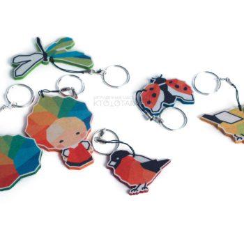 фигурные полноцветные брелоки, магниты и значки, промо сувенир из фетра в виде персонажей, маскоты промо сувенирка, сувениры для выставки, необычные сувениры на заказ