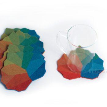 подставка для чашки из фетра с полноцветом, костер промо сувенир из фетра в виде персонажей и логотипа, маскоты промо сувенирка, сувениры для выставки, необычные сувениры на заказ