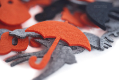 зонтик, эко значки из фетра, промо сувениры для печати логотипа