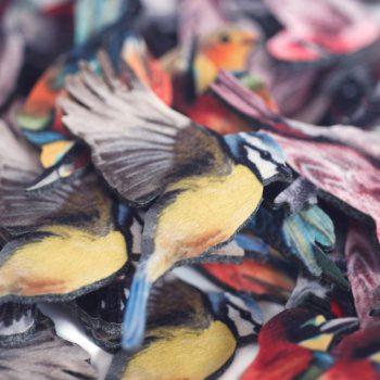 птицы значки и магниты из фетра уникальные сувениры для сувенирной лавки в природном заказнике