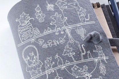 блокнот с обложкой из войлока с символом года