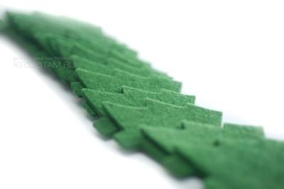 елочка зелёная из войлока, фетровая ёлка, елочная игрушка ёлка из листового войлока, фигурка ёлка из фетра на заказ с логотипом