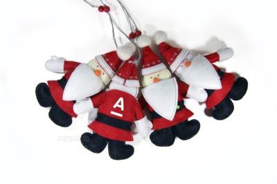 """набор елочных игрушек из фетра """"дед мороз и снегурочка"""""""