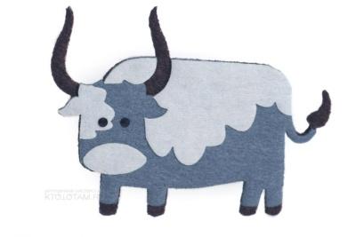 сувенир из фетра символ года быка на заказ