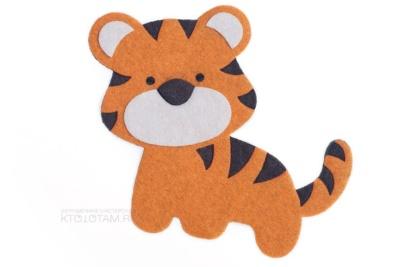 сувенир из фетра символ года тигра на заказ