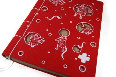 блокнот с обложкой из фетра с принтом сыр на тему символа года на заказ