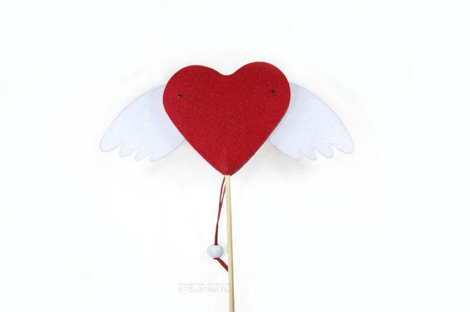 сердце с подвижными крыльями