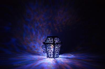 ночник из фетра ретро фонарь со светодиодами на заказ с разноцветным свечением