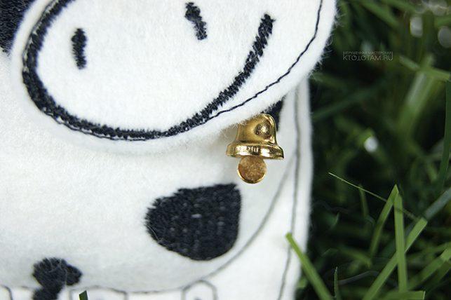игрушка ручной работы бык с колокольчиком эко подарок из фетра на заказ оптом с логотипом