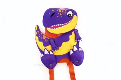 рюкзак в виде персонажа, маскот продукта динозавр, на заказ оптом разработка и производство