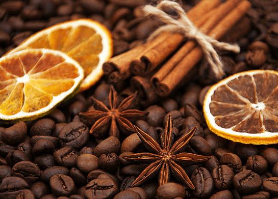 кофе корица бадьян апельсин натуральные ароматизаторы для упаковки подарков